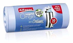 Alfapac - CXVH03020 - Sac Poubelle - 20 Sacs - 30 L - Coulissac - Haut Végétal Origin - Lot de 2
