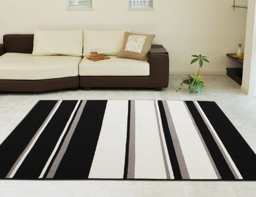 Washable washable! Urban modern which 130 x 190 cm [made in Japan] Scandinavian modern black hot carpet cover