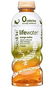 SoBe Lifewater 0 Calories, Mango Melon, 20-Ounce Bottles (Pack of 12)