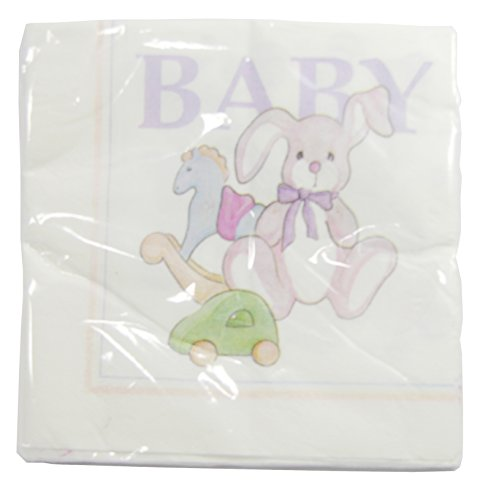 "The Cindus Collection 12"" ""Baby Toys"" Luncheon Napkins Baby Showers Parties - Green"