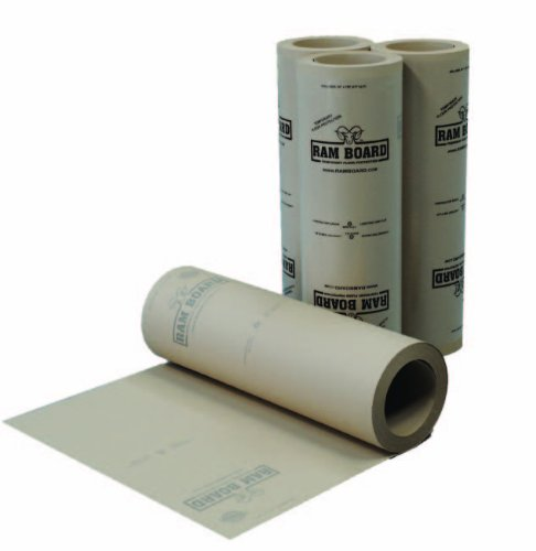 """Plasticover Ram Board Floor Protection Fiberboard, Tan, 0.048"""" Thick, 38"""" Width, 100' Length front-558683"""