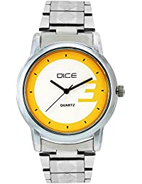 "Dice ""Smooth-4142"" Formal Round Shaped Wrist Watch For Men. Fitted With Beautiful Multi Color Dial And Stainless..."