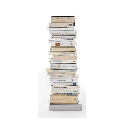 Ptolomeo - Librero 75 negro/base glossy steel/75cm/capacity approx 35 volumes