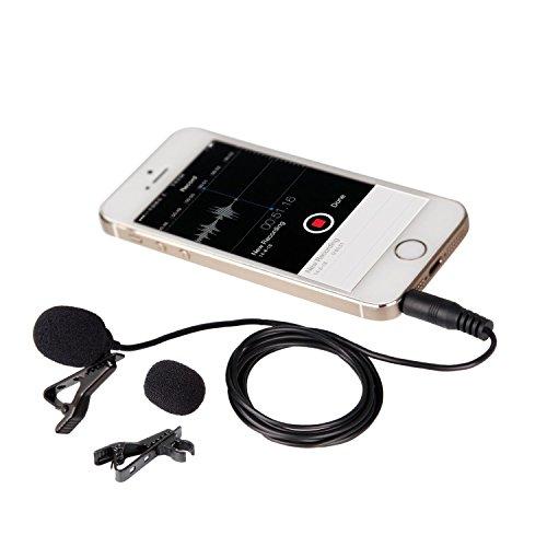 Micrófono condensador Movo PM10 Deluxe Lavalier Lapel  onmidireccional  para Apple iPhone, iPad, iPod Touch, Android & Windows Smartphones