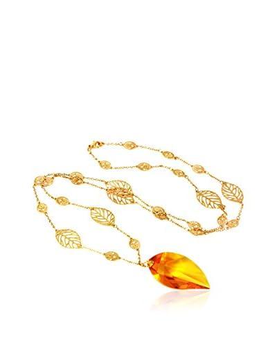 Art de France Collar  metal bañado en oro 24 ct