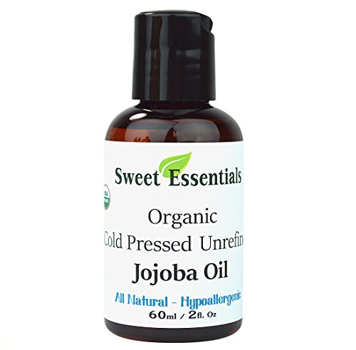Premium 100% Pure Cold Pressed Organic Virgin / Unrefined Jojoba Oil - 2oz - Imported From Argentina - Moisturize As Well As Rep