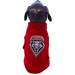 NCAA New Mexico Lobos Sleeveless Polar Fleece Dog Sweatshirt, Small by All Star Dogs