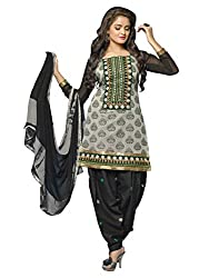 Lookslady Embroidered Beige Chanderi Salwar Suit