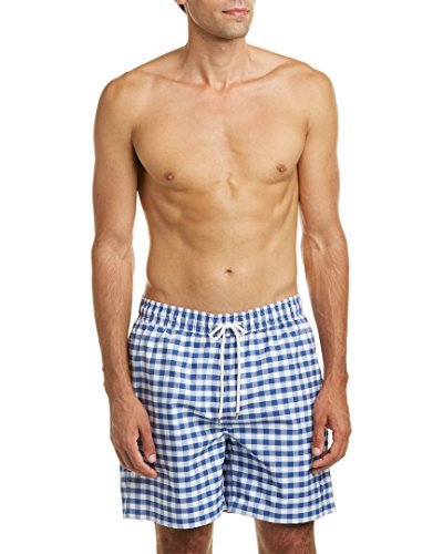 Brooks Brothers Mens Montauk Swim Trunk, L, Blue (Ties For Men Brooks Brothers compare prices)