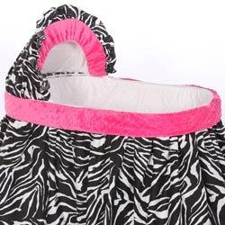 Unique Minky Zebra Bassinet Bedding