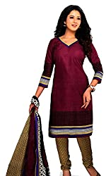 Crazy Style Casual Printed Cotton Dress Material For Women's