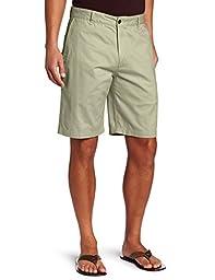 Dockers Men\'s Perfect Short D3 Classic-Fit Flat-Front Short, Sand Dune, 36
