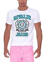 Rivaldi Camiseta Manga Corta Mijori (Blanco / Turquesa)