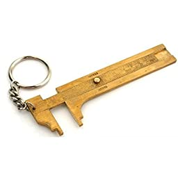 Brass Sliding Gauge 80mm Keychain Measuring Tool