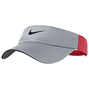 Nike Ladies Dri-FIT Tech Visors Wolf Grey/Crimson