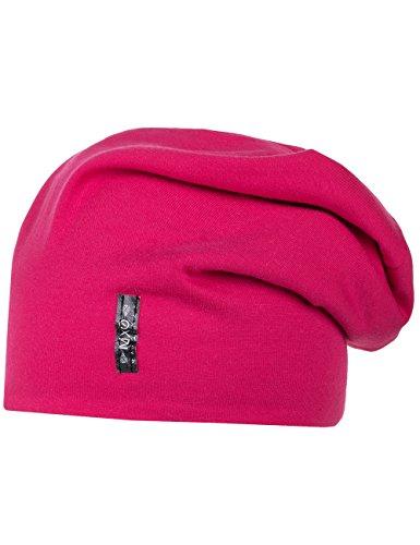 maximo - Wendemtze, Beanie, Jersey, Fleecefutter, Cappello per bambine e ragazze, rosa (rosa  (dunkelpink/metallmeliert 5705)), 57