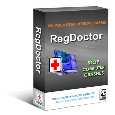 RegDoctor (CD+Download): safely cleans, repairs and optimizes the Windows Registry with one-click; cleans the registry to fix Windows errors and crashes; keeps Your PC working faster, smoother and trouble free. Works with Windows 7/Vista/XP/2000/98.