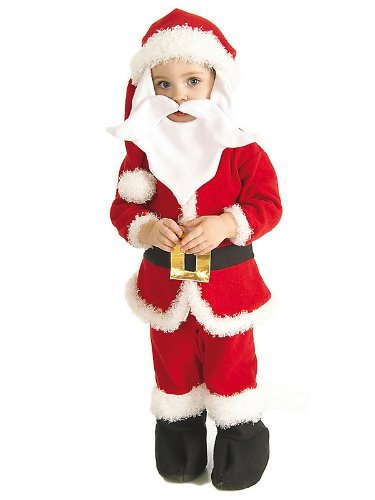 Children's Velvet Elf Suit Costume - Small