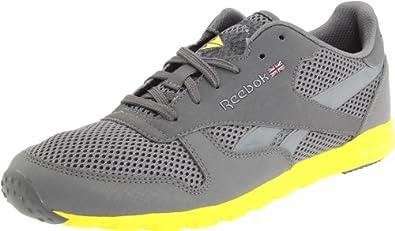 Reebok Women's CL Leather Clean Ultralite Classic Sneaker,Medium Grey/Radar Yellow/Pure Silver,10 M US