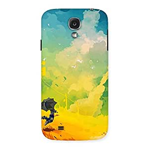 Ajay Enterprises Real Flying With Umbrella Back Case Cover for Samsung Galaxy S4
