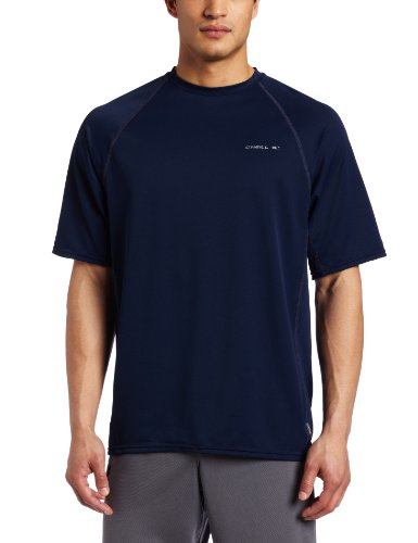 O'Neill Wetsuits Men's 24-7 Short Sleeve Crew, Blue, Large