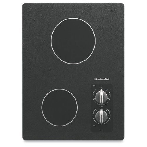 KitchenAid KECC056RBL 15 Electric Cooktop &#8211; Black