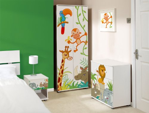 Animal Design Childrens/Kids White Bedroom Furniture Sets