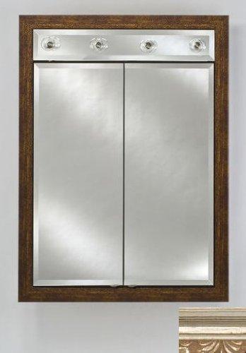 Signature Double Door Medicine Cabinet Lights Finish: Parisian Silver, Size: 24