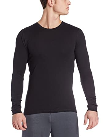 Calvin Klein Men's Body Long Sleeve Crew Neck Top, Black, Small