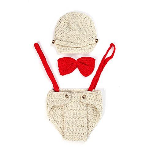 reebonz Enfant Fait à la main crochet Bonnet en tricot nouveau-né bébé vêtements bébé photo Props