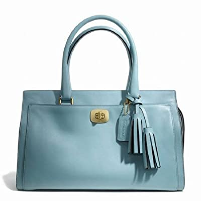 NWT Coach Legacy Leather Chelsea Carryall Satchel Robins Egg Blue 25359