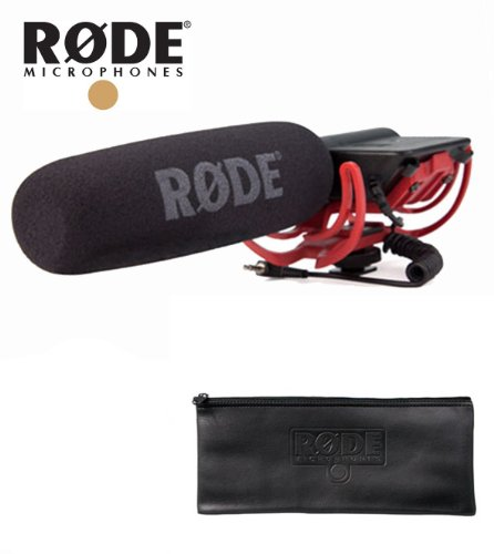 Rode Videomic With Rycote Lyre Suspension System Kit + Wsvm Pop Filter/Wind Shield + Zp2 Padded Zip Pouch (Large)