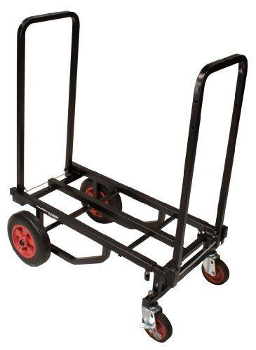 Ultimate Support JS-KC80 Karma Cart Adjustable Professional Equipment Cart - Transforms Into 8 Different Configurations- Medium Size