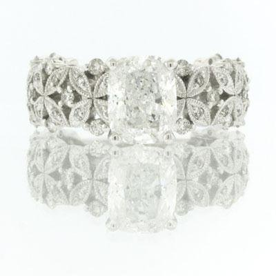 2.58ct Cushion Cut Diamond Engagement Anniversary 