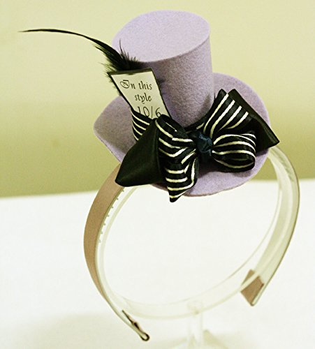 Mini Top Hat Headband Mad Hatter Tea Party Alice in Wonderland Prop Costume