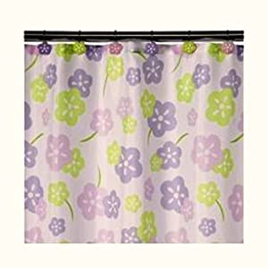 lavender pink and lime green floral shower