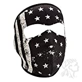 ZANheadgear Neoprene Full Mask, Black and White Vintage Flag, One Size