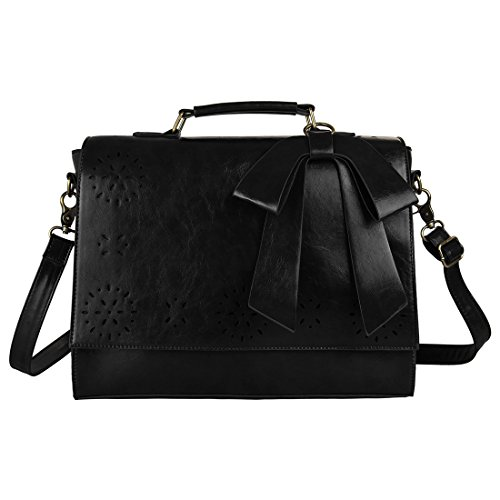 Ecosusi Large Women Briefcase Vintage Messenger Bag