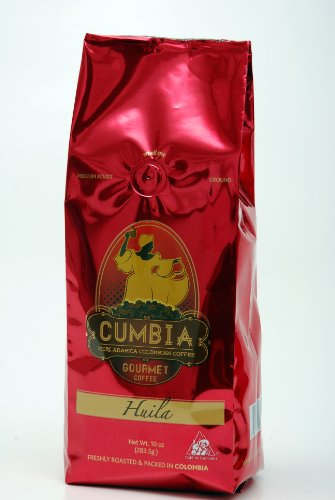 Cumbia - Huila 100% Single Origin Colombian Gourmet Ground Coffee 10-Ounce Bag