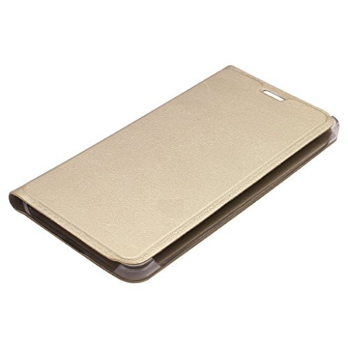 Micromax Canvas Spark 2Plus Q350 Leather Flip Cover -GOLD