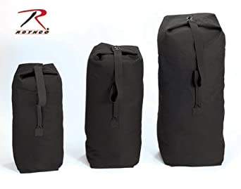 "Black Standard Top Load Canvas Duffle Bag (21"" x 36"")"