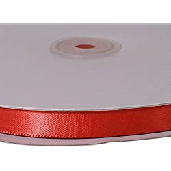 Firefly Imports Single Face Satin Ribbon, 1/4-Inch/100-Yard, Red