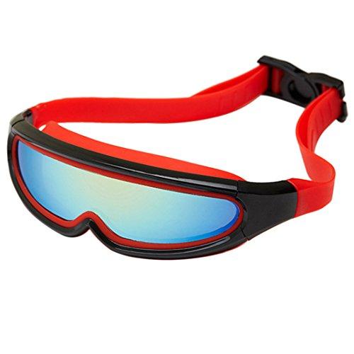 ZXK Schwimmbrille Einstellbar für Männer und Frauen HD Wasserdichte Polycarbonat Gläser UV Schutz Antibeschlag der Schwimmbrille