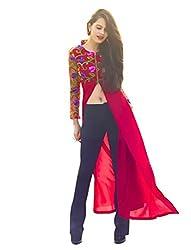 1 Stop Fashion Red Lycra Stitched Kurti