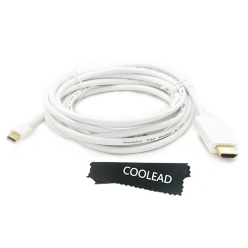 Coolead- 10Ft 3M Mini Displayport To Hdmi Cable(Video Adapter Lead For Apple Imac- Unibody Macbook - Pro - Air & Pc With Mini Dp Etc.) *** Supports Audio ***