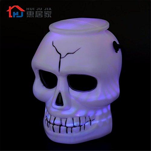 Halloween Ghost Bucket Skull Lantern
