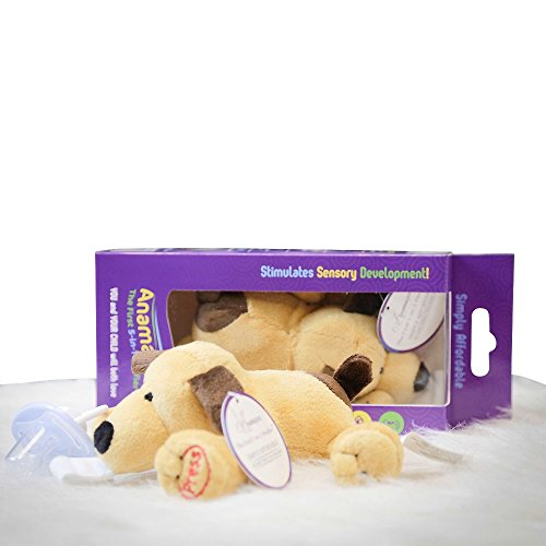 5-n-1 Paci, Rattle, Squeak Toy, Plays ABC Song, Baby Sensory Development Plushie, AND Holds Paci - Paddy the Puppy, 100% ECO Friendly Materials Keeps Baby's Comfort ~Perfect Baby Shower Gift ~ - 1