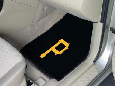 Fanmats 6497 MLB Pittsburgh Pirates Front Row Nylon Carpet Car Mat - 2 Piece