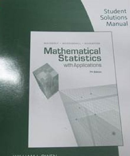 Student Solution Manual for Mathematical Statistics With...