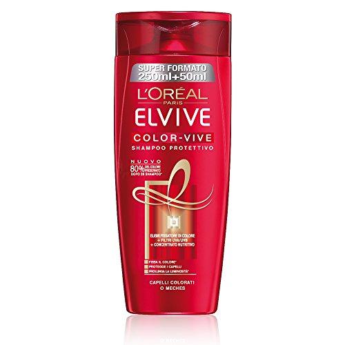 L'Oréal Paris Elvive Color-Vive Shampoo Protettivo per Capelli Colorati o Mèches, 300 ml